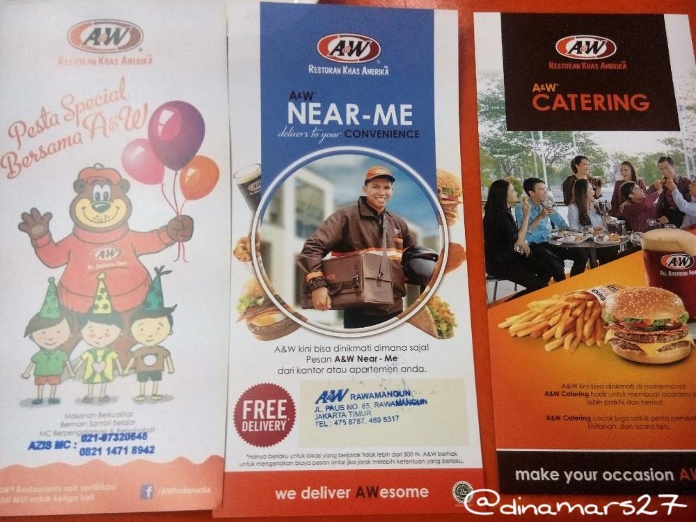 Berbagai layanan dari A&W Restoran, termasuk free delivery Japanese Curry Premium Mixbowls untuk hantaran kurang dari 500 meter. (foto: dok.pri)